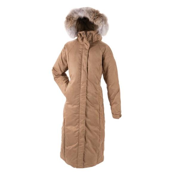 1c0745144db CABELAS Microsuede Goose Down Jacket Coyote Fur